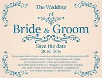 Hochzeitseinladungskarte mit Blumen Lizenzfreies Stockbild
