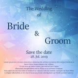 Hochzeitseinladungskarte mit Blumen Lizenzfreie Stockfotos