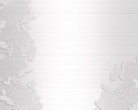 Hochzeitseinladungssatin und -spitze Stockbilder