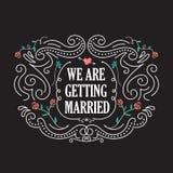 Hochzeitseinladungsschablonen mit Blumenweinlesevektor Lizenzfreies Stockfoto