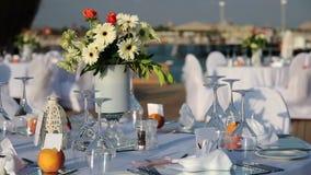 Hochzeitseinrichtung stock video