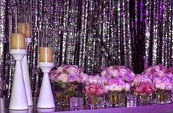 Hochzeitseinrichtung stockfotos
