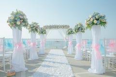 Hochzeitseinrichtung Stockbild