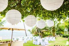 Hochzeitseinrichtungsdetail Lizenzfreie Stockbilder