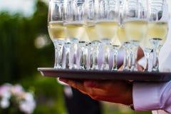 Hochzeitsempfangüberblick Stockfoto