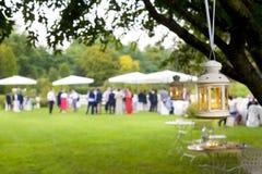 Hochzeitsempfang im Freien lizenzfreies stockbild