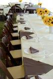 Hochzeitsempfang-Tabelle Stockbilder