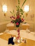 Hochzeitsempfang-Tabelle Stockbild