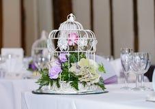Hochzeitsempfang-Tischschmuck Stockfoto