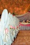 Hochzeitsempfang Stockfoto