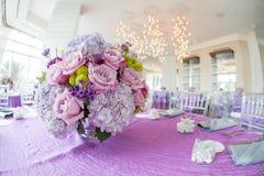 Hochzeitsempfangblumenblumenstrauß Lizenzfreies Stockbild