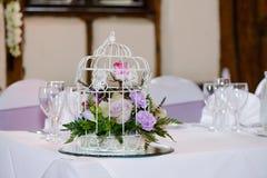 Hochzeitsempfangdekoration Lizenzfreie Stockfotos