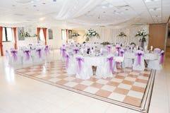 Hochzeitsempfangeinstellung lizenzfreies stockfoto