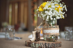 Hochzeitsempfanggedeckdetail Lizenzfreie Stockfotos