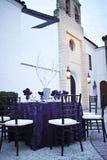 Hochzeitsempfangpartytabelle Stockfoto