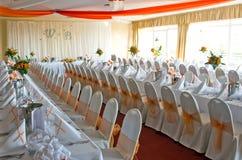 Hochzeitsempfangraum Lizenzfreies Stockfoto