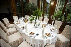 Hochzeitsempfangtabelle Lizenzfreie Stockfotos
