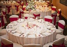 Hochzeitsempfangtabellen Lizenzfreies Stockfoto