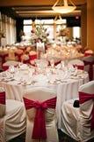 Hochzeitsempfangtabellen Stockbilder