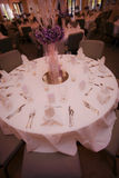 Hochzeitsfesttabelle lizenzfreies stockbild