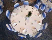 Hochzeitsfesttabelle Lizenzfreie Stockbilder