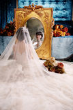 Hochzeitsfrauenportrait Stockfoto