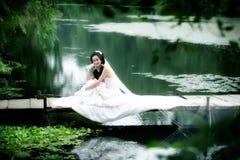 Hochzeitsfrauenportrait Stockfotos