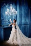 Hochzeitsfrauenportrait Stockbilder