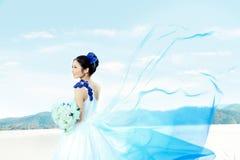 Hochzeitsfrauenportrait Stockbild