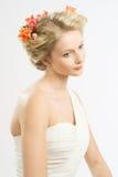 Hochzeitsfrisur Lizenzfreie Stockfotos