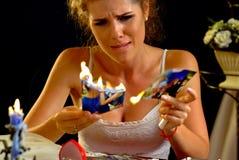 Hochzeitsgedächtnisse Frau des defekten Herzens Familie brechen oben stockfotos