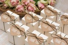 Hochzeitsgeschenke für Gast stockfotografie