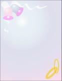 Hochzeitsglocken und Hochzeitsbänder. Lizenzfreie Stockbilder