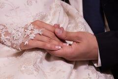 Hochzeitshände Stockfotos