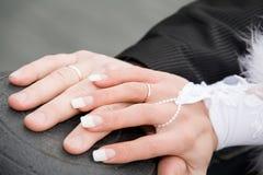 Hochzeitshände Lizenzfreies Stockfoto