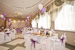 Hochzeitshalle mit Bereichen Lizenzfreies Stockbild