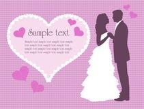 Hochzeitshintergrund stock abbildung