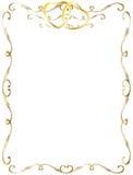 Hochzeitsjahrestags-Randeinladung Stockbild