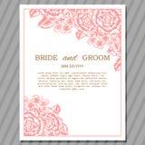 Hochzeitskarte Stockfoto
