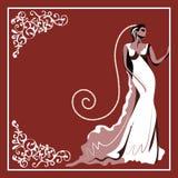 Hochzeitskarte 6 Stockfoto