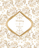 Hochzeitskarte in der Weinleseart Lizenzfreie Stockfotos