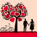 Hochzeitskarte mit den Jungvermählten Lizenzfreies Stockfoto