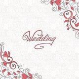 Hochzeitskarte mit Inneren Stockbilder