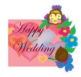 Hochzeitskarte mit Vögeln. Stockfoto