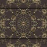 Hochzeitskarte oder -einladung mit abstraktem Blumenhintergrund Grußpostkarte im Schmutz oder Retro- Vektor Eleganzmuster mit Flu Lizenzfreie Stockfotos