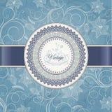 Hochzeitskartenschablone Stockbild