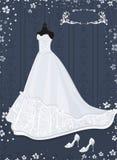 Hochzeitskleid Stockbild
