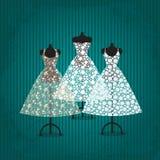 Hochzeitskleid Stock Abbildung