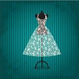 Hochzeitskleid Vektor Abbildung