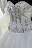 Hochzeitskleid. Detail-12 Stockfoto